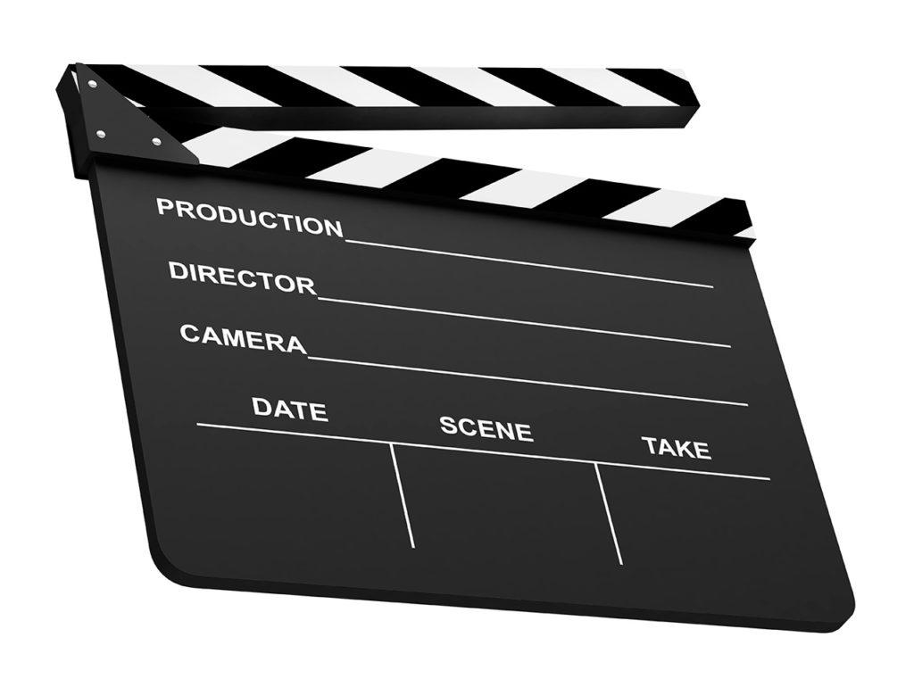 Filmklappe für Videoprodutionen